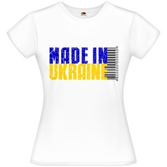 "Футболка біла жіноча ""Made in Ukraine"", XS"